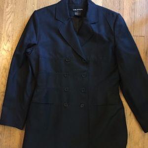 Halston Vintage Double Breasted Silk Blazer